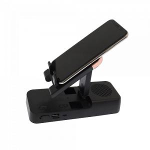 Mobiltelefontartó Bluetooth-os hangszóróval, USB porttal és micro USB bemenettel