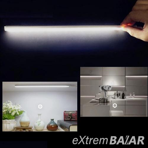 LED lámpa infravörös mozgásérzékelővel - USB-ről tölthető, 40 cm