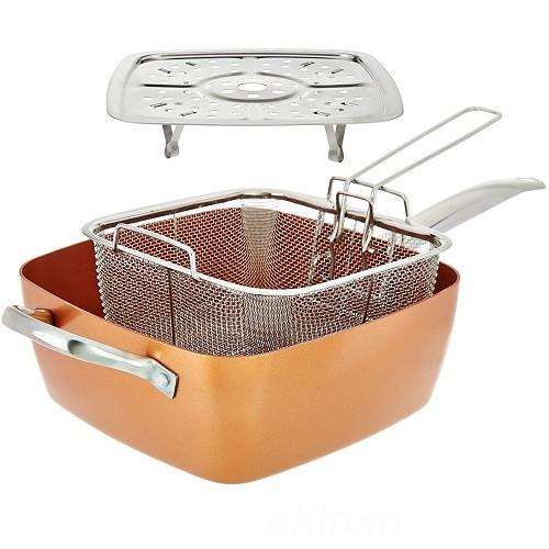 Copper Pan 4 az 1-ben serpenyő készlet
