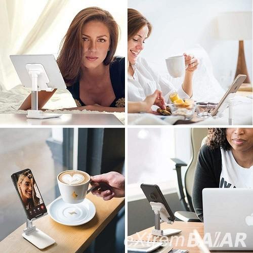 Asztali telefon és tablet tartó - csúszásgátlóval