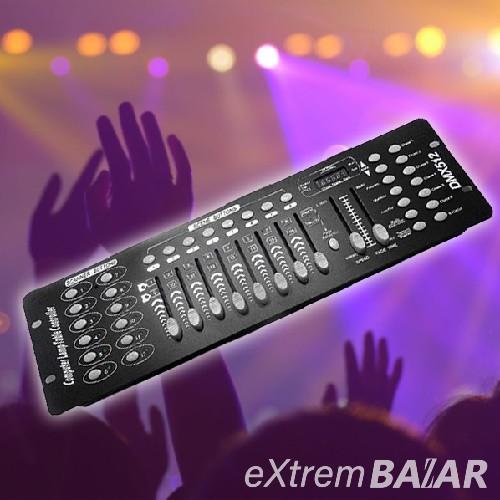 192 csatornás fényvezérlő - DMX-512 kontroller, fénypult