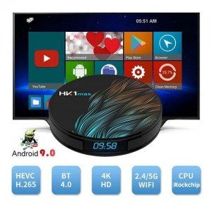 HK1 Max Android Smart TV Box - tv okosító / 2 GB RAM, 16 GB ROM, Quad-Core, Android 9.0, WiFi