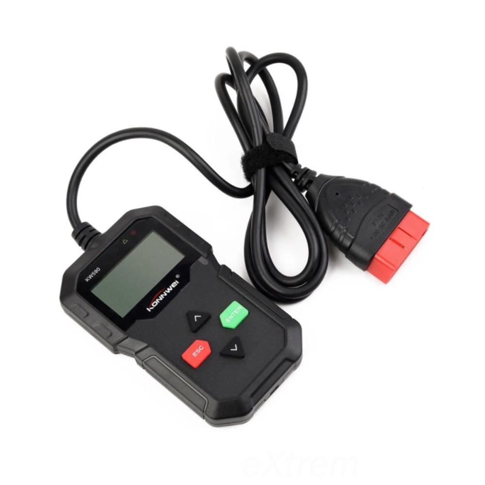 Konnwei Autódiagnosztikai szkenner – hibakód olvasó és törlő, OBD2/EOBD KW590