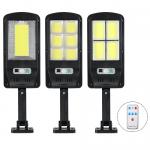 Extra fényes napelemes fali lámpa fény- és mozgásérzékelővel - IP65 forgatható utcai lámpa+távirányító