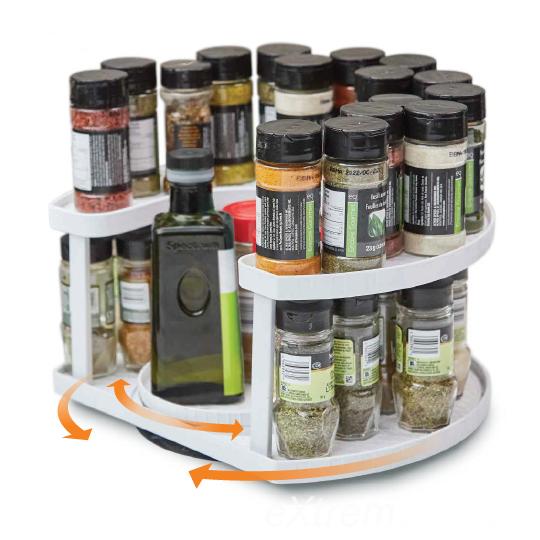 Spice Spinner - Forgatható fűszertartó állvány, 40 db fűszernek